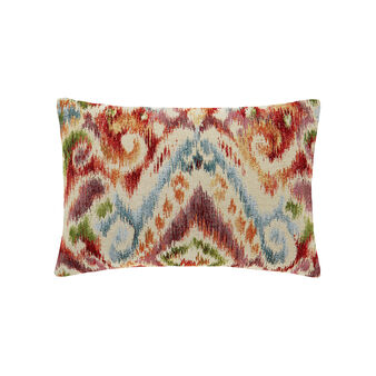 Rectangular cushion covered in cotton jacquard