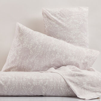 Percale bed linen set with damask print