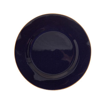 George ceramic plate with contrasting colour edges
