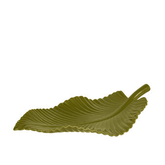 Glossy ceramic leaf