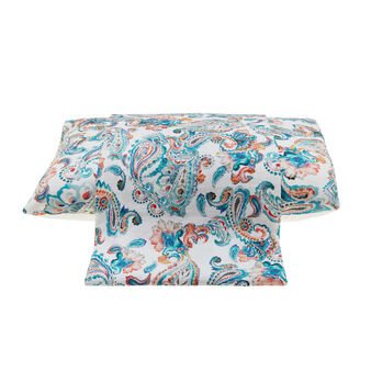 Linen and cotton duvet cover with digital print