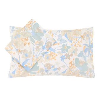 Parure letto cotone stampa fiori e farfalle