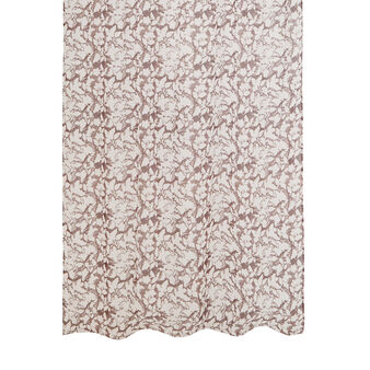 Voile curtain with two-tone block print