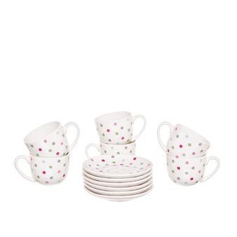 Set of 6 polka dot coffee cups