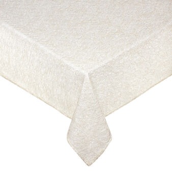 Table cover with lurex weave