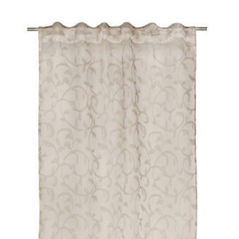 Damask curtain in linen-viscose blend