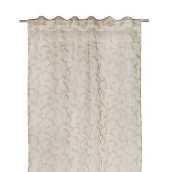 Tenda damascata in misto lino e viscosa