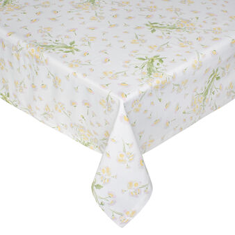 Daisy waterproof tablecloth in 100% cotton
