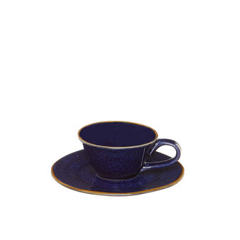 George ceramic coffee cup with contrasting colour rim