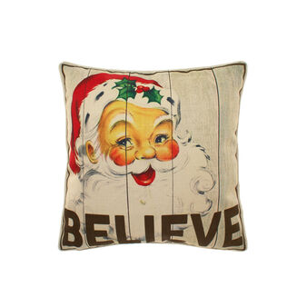 Cushion with vintage Father Christmas motif
