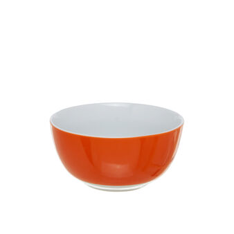 Orange porcelain salad bowl