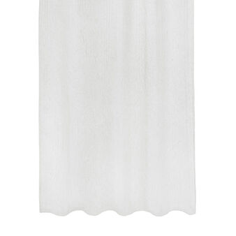 Linen blend striped curtain