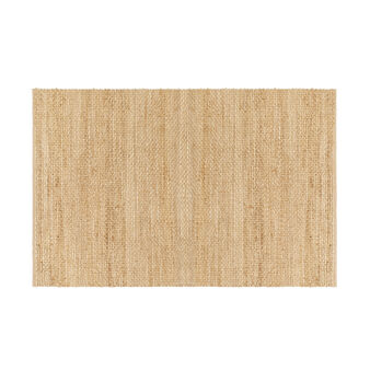 Knotted jute rug