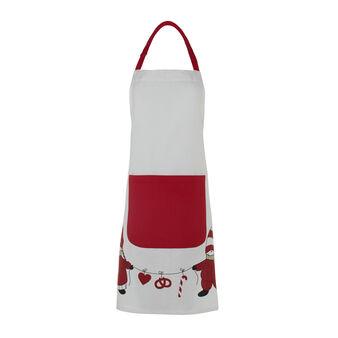 Bib apron with Gnomes print