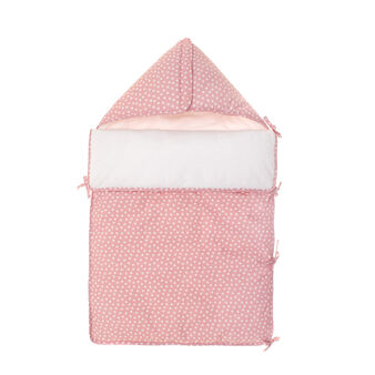 Sleep sack in pink cotton with star print
