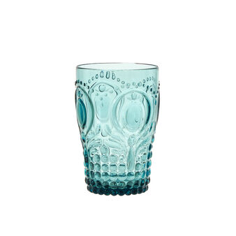 Detailed plastic water glass