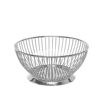 Round silver plated basket