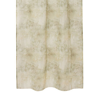 Linen blend curtain with blended print