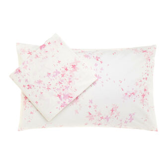 Cotton duvet cover set with butterfly print