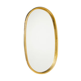 Oval mirror in metal