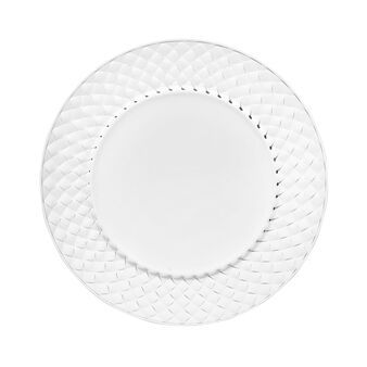 Set two charger plates with diamond decoration