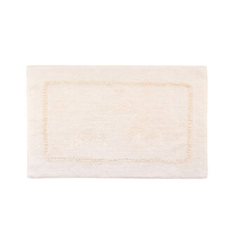 Terry bath mat with central insert