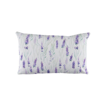 100% cotton cushion with lavender print