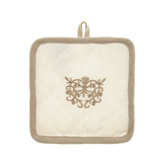 Burano embroidered pot holder