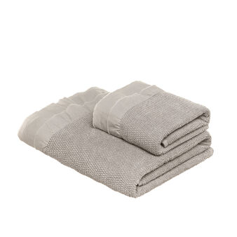 Stonewashed terry towel