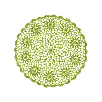 Tovaglietta rotonda puro cotone lavorata ad uncinetto