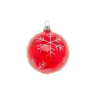 Glass glitter ball D 8 cm