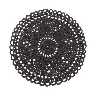 Round woven design kitchen mat