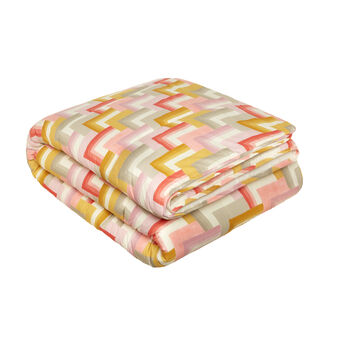 Double bed quilt in cotton percale with print