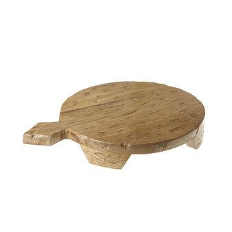 Round mango wood chopping board