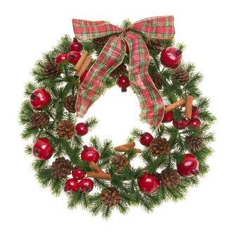 Decorative wreath with bow, D 45 cm