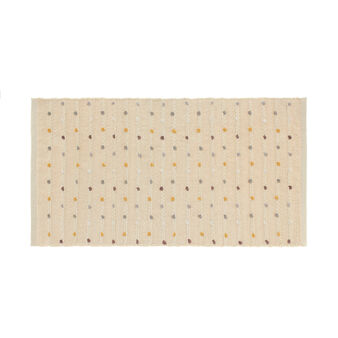 Cotton bath mat with raised bobble texture