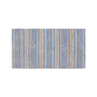 tappeto cucina cotone e juta a righe