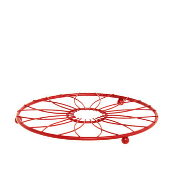 Round trivet in red iron
