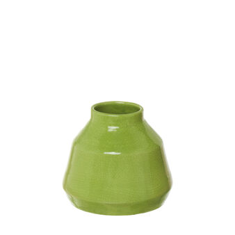Conical ceramic vase with craquelé effect