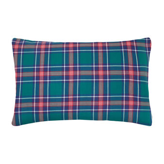 100% cotton twill tartan pillowcase