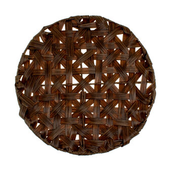 Woven paper round table mat