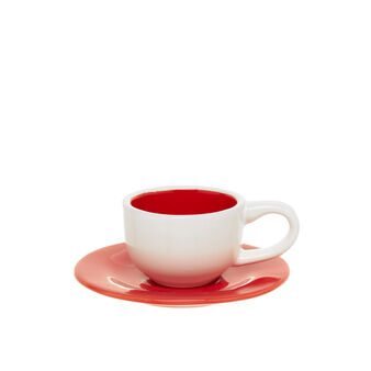 Two-tone ceramic coffee cup