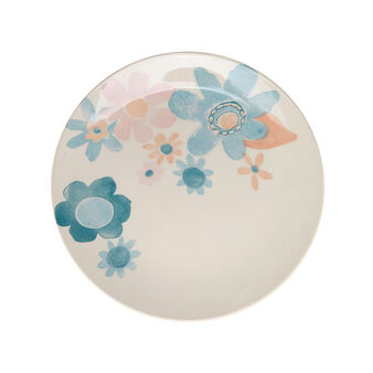 Watercolour-effect ceramic serving plate