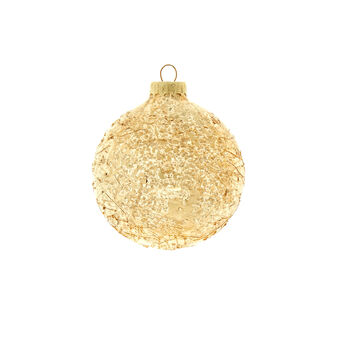Old gold glass bauble D 8cm