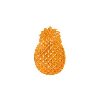 Pineapple stoneware plate