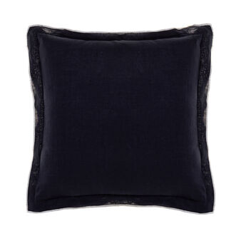 100% linen cushion with overlock stitching