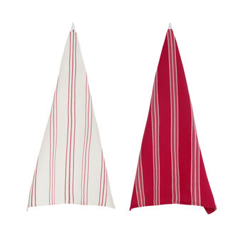 2-pack striped tea towels in 100% cotton