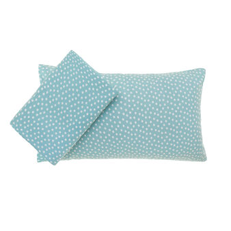 Star patterned percale duvet set