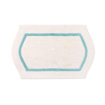 Tappeto bagno cotone cornice a rilievo