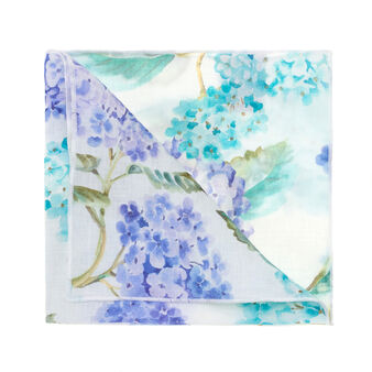 Pure linen Hydrangea napkin with soft hand